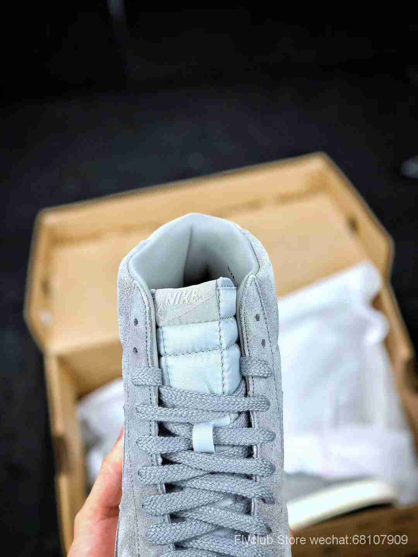 Nike Blazer Mid PRM VNTG SUEDE 开拓者灰白高帮复古休闲板鞋 情侣款  专供天猫京东平台 货号538282-040