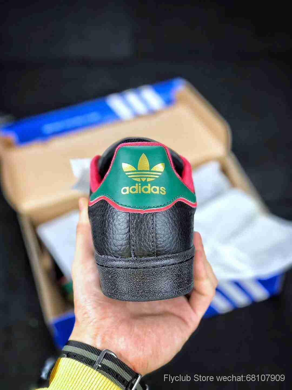 圣诞节限定  ADIDAS Superstar Original阿迪达斯三叶草男女鞋原装全头层18年最新贝壳头经典休闲板鞋