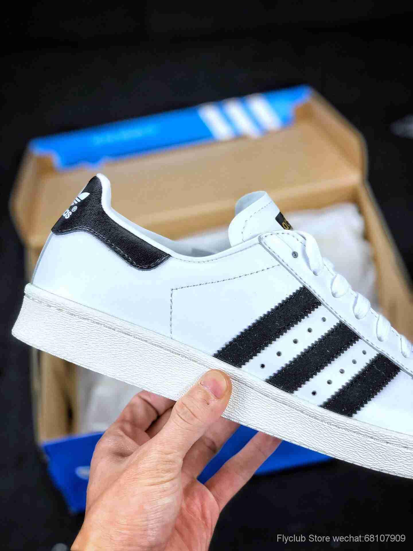 原装公司级Adidas/阿迪达斯 三叶草 金标贝壳头运动休闲板鞋 G61070 男女鞋