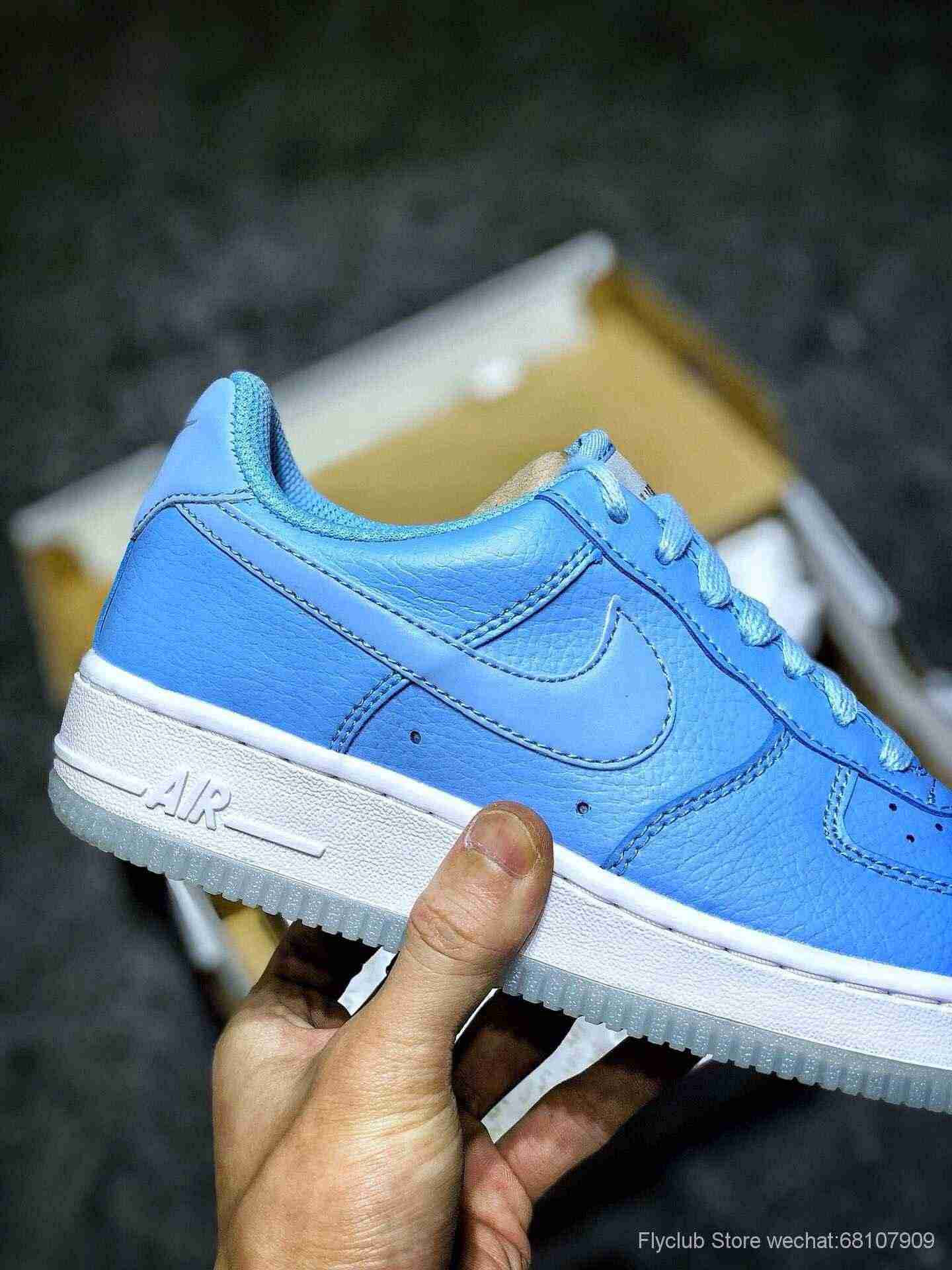 空军Air Force 1 3M反光 天蓝水晶底3M反光