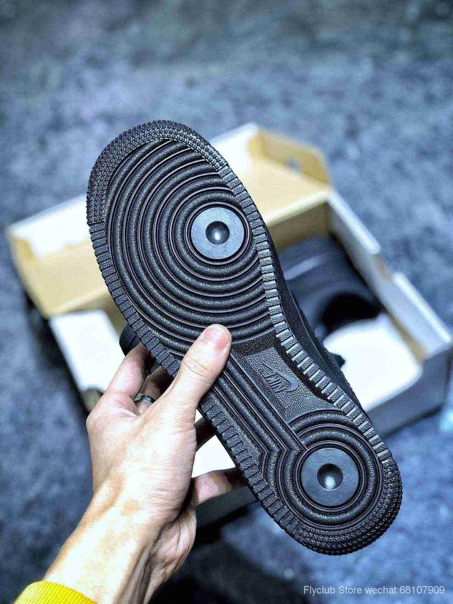 💰279福利 日本专柜订单# Nike Air Force 1 Low 空军一号全黑低帮板鞋