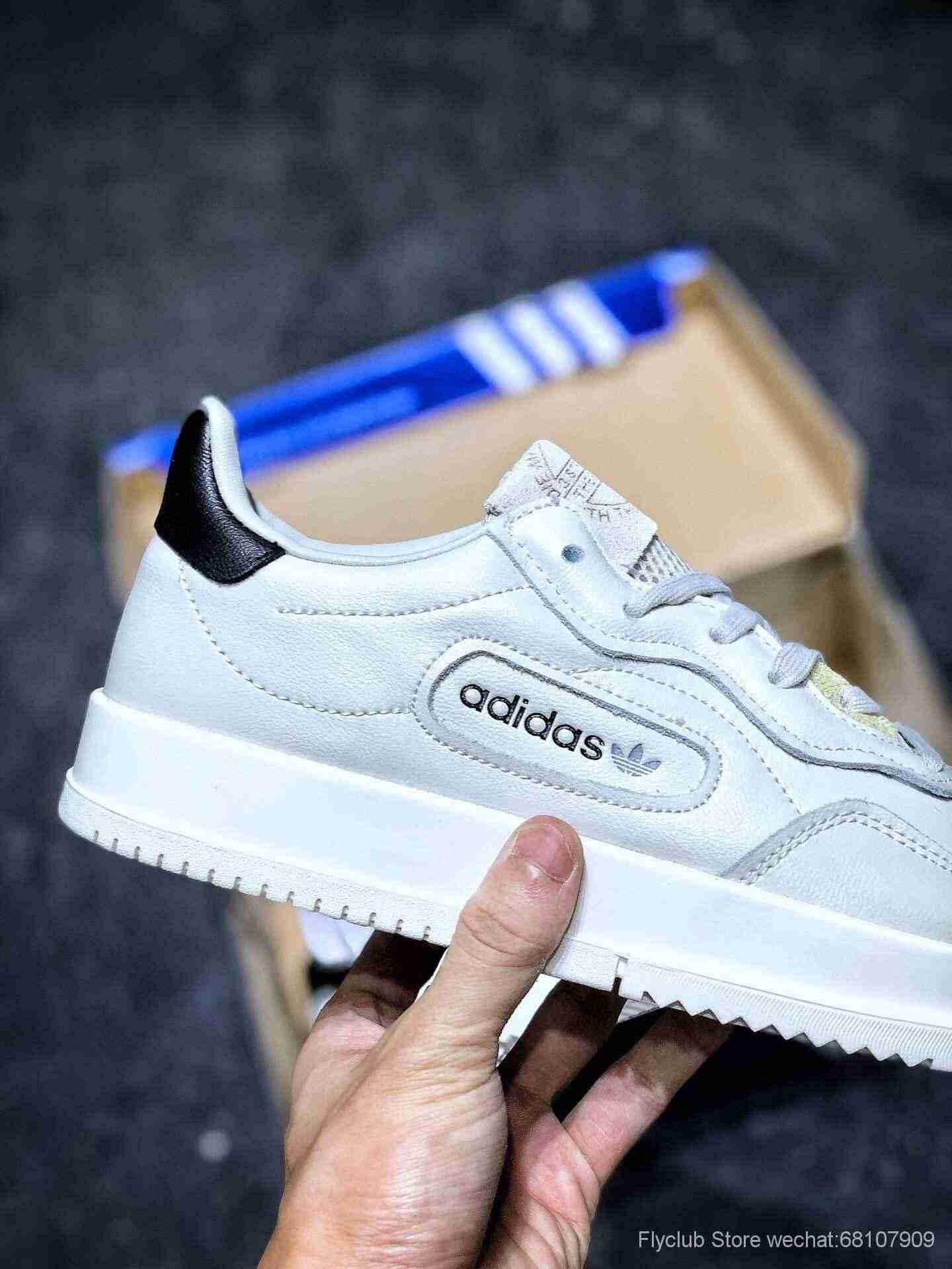 """Adidas SC Premiere""""White""""三叶草复古平底百搭货号:BD7583"""