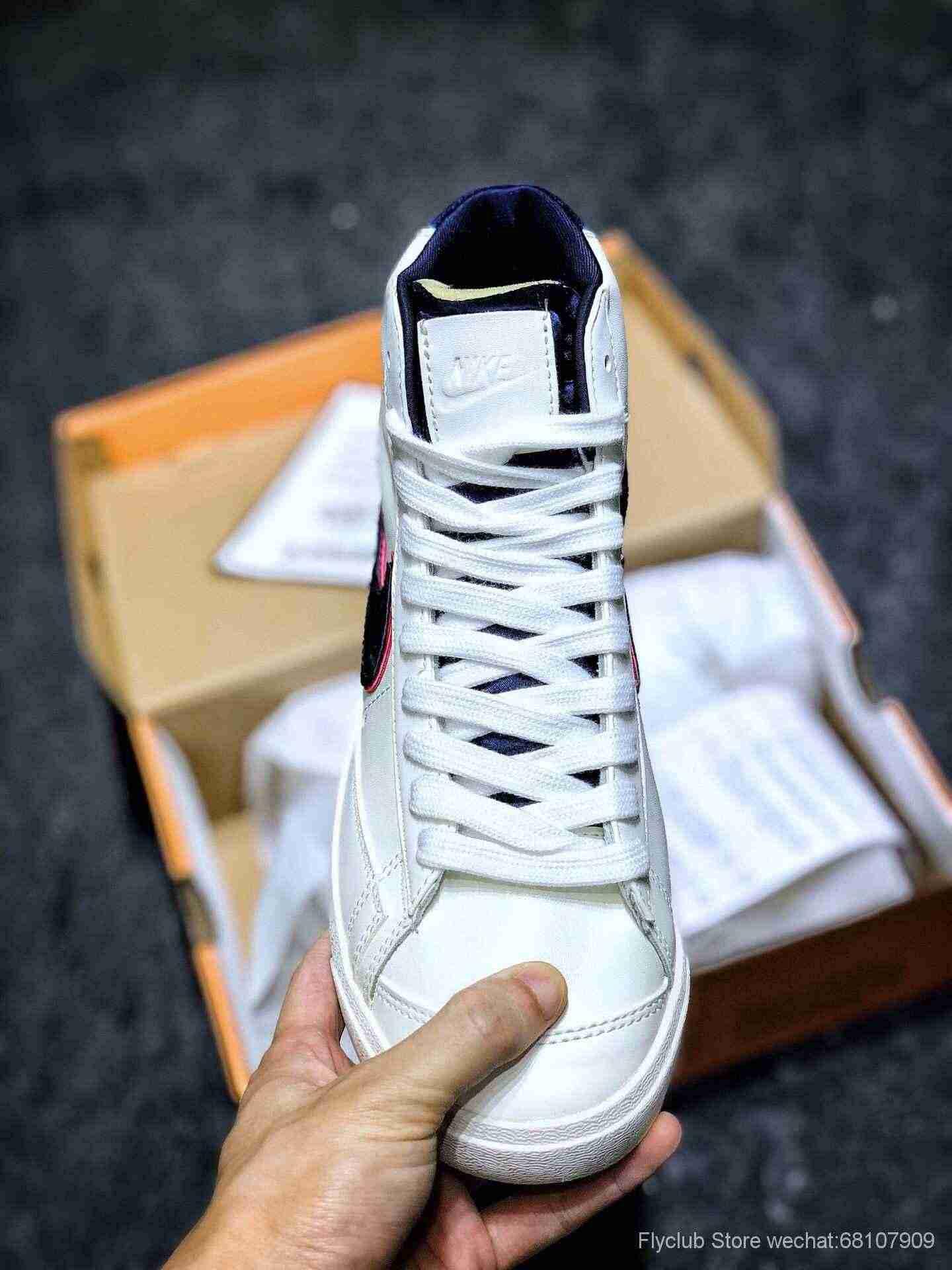 原装‼️Nike Blazer Mid 77 VNTG QS 开拓者高帮奶油白大勾复古板鞋