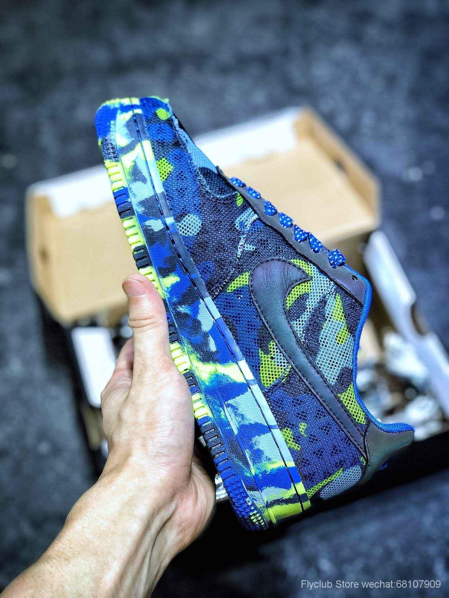 "Nike Air Force 1 ""CAMO"" 空军一号迷彩变色龙独家限量发售 日本客制订单 初夏七彩变色TPU鞋身"