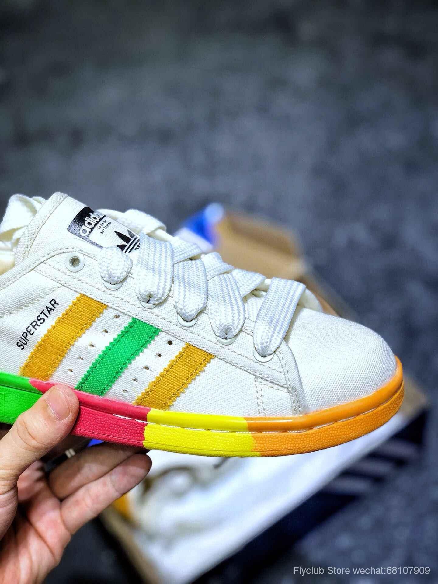 夏日定制🌈吃定彩虹 三叶草Adidas Originals Stan Smith W史密斯经典百搭贝壳头