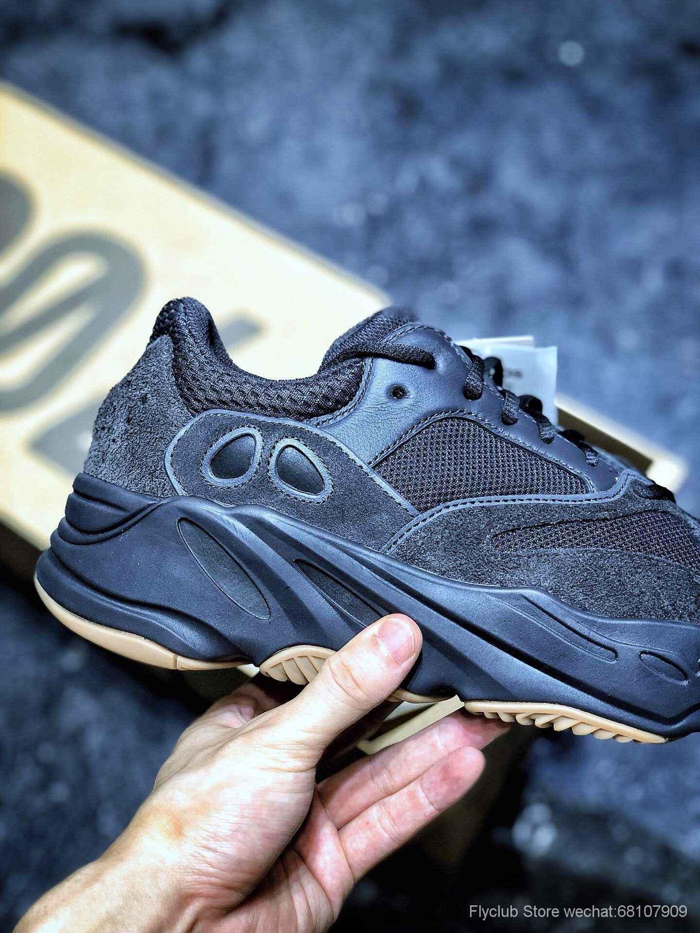 "‼️flyclub纯原 Adidas Yeezy 700 Boost Runner ""Utility Black""黑生胶"