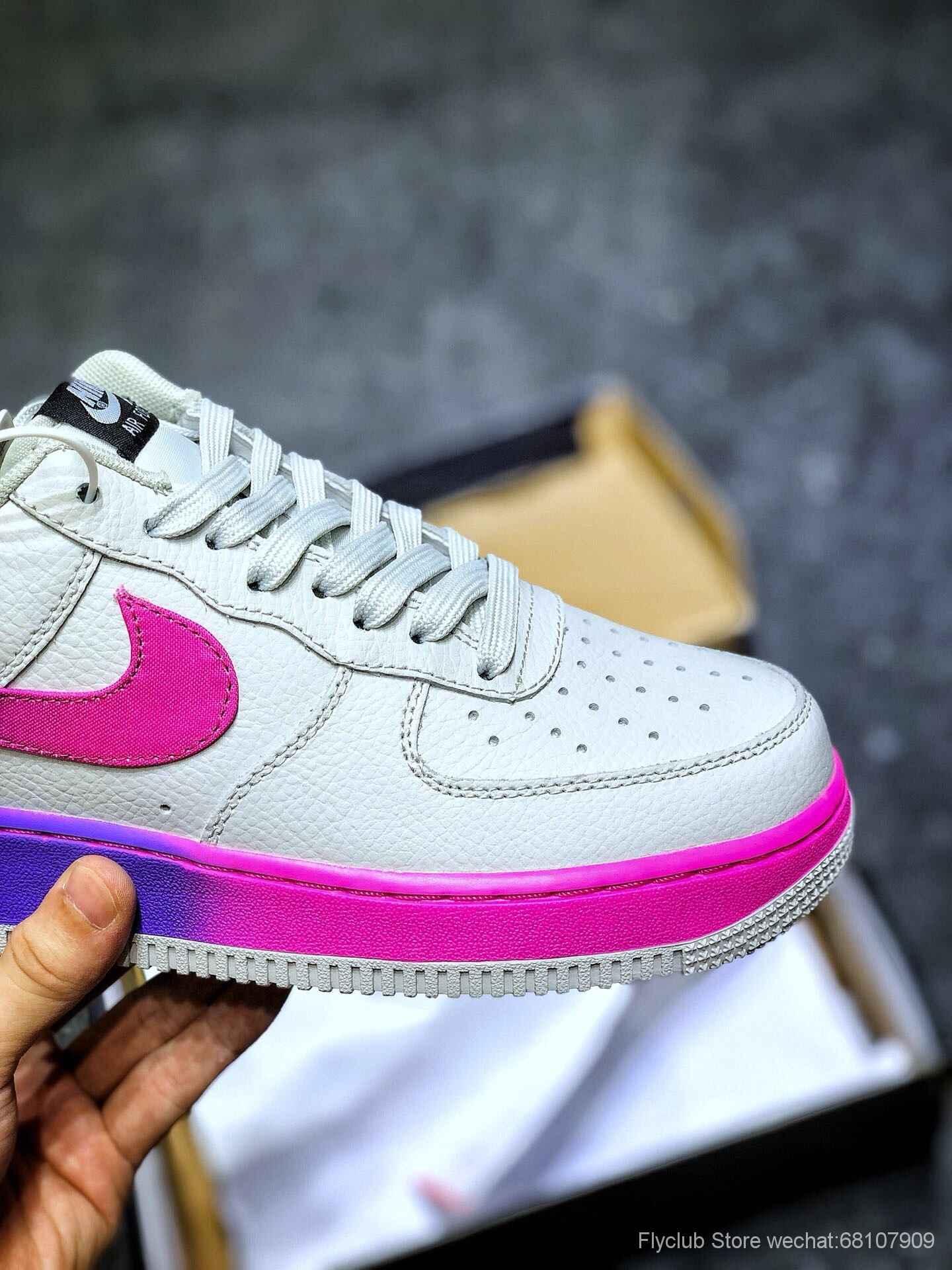 nike板鞋官网_Nike Air wmns air Force 1 07 se 空军板鞋内置气垫白紫色 情侣板鞋货号 ...