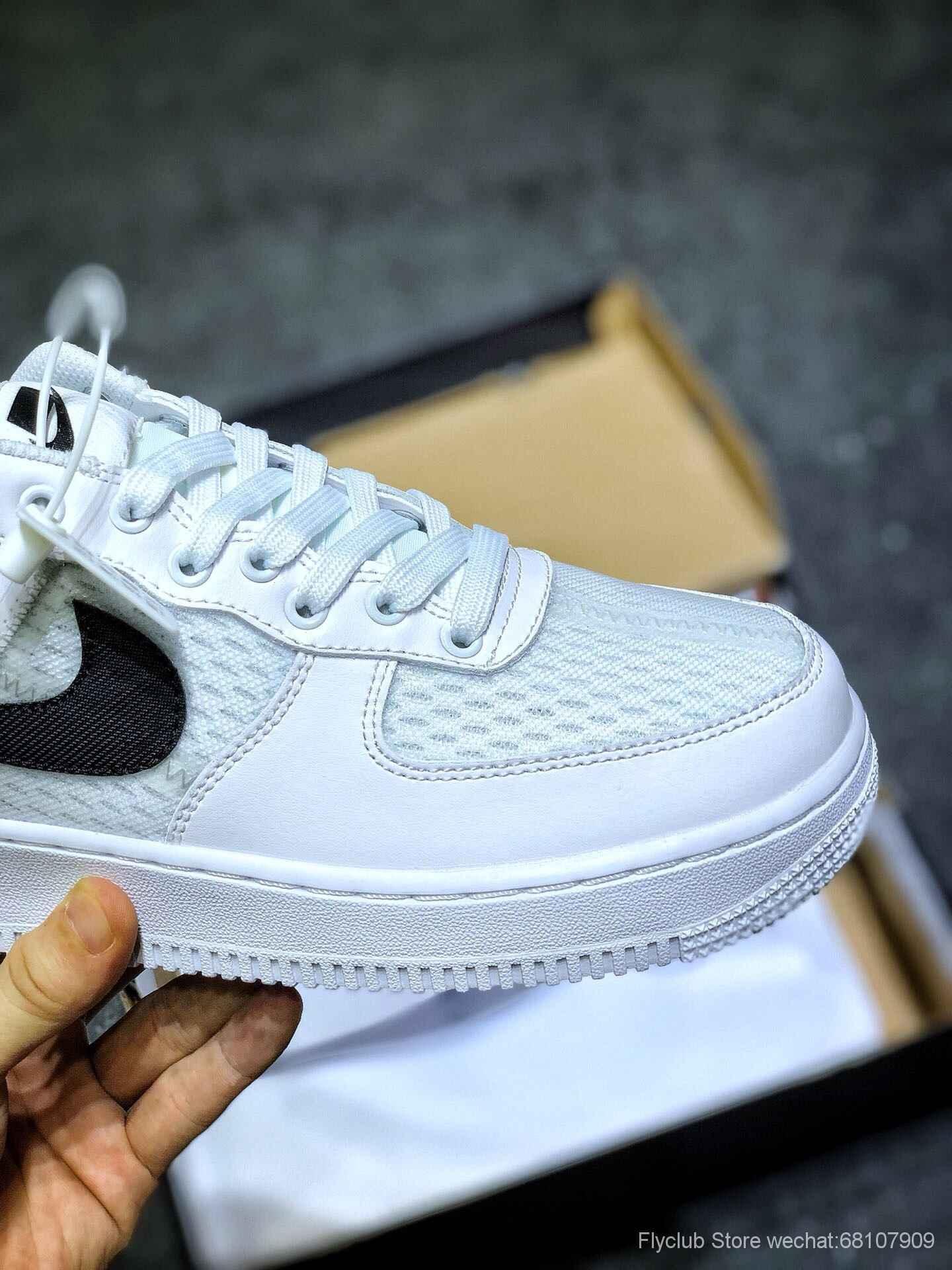 nike板鞋官网_原装Nike Air Force 1 x TYPE 空军一号低帮板鞋 透气镂空解构拼接-【ST ...