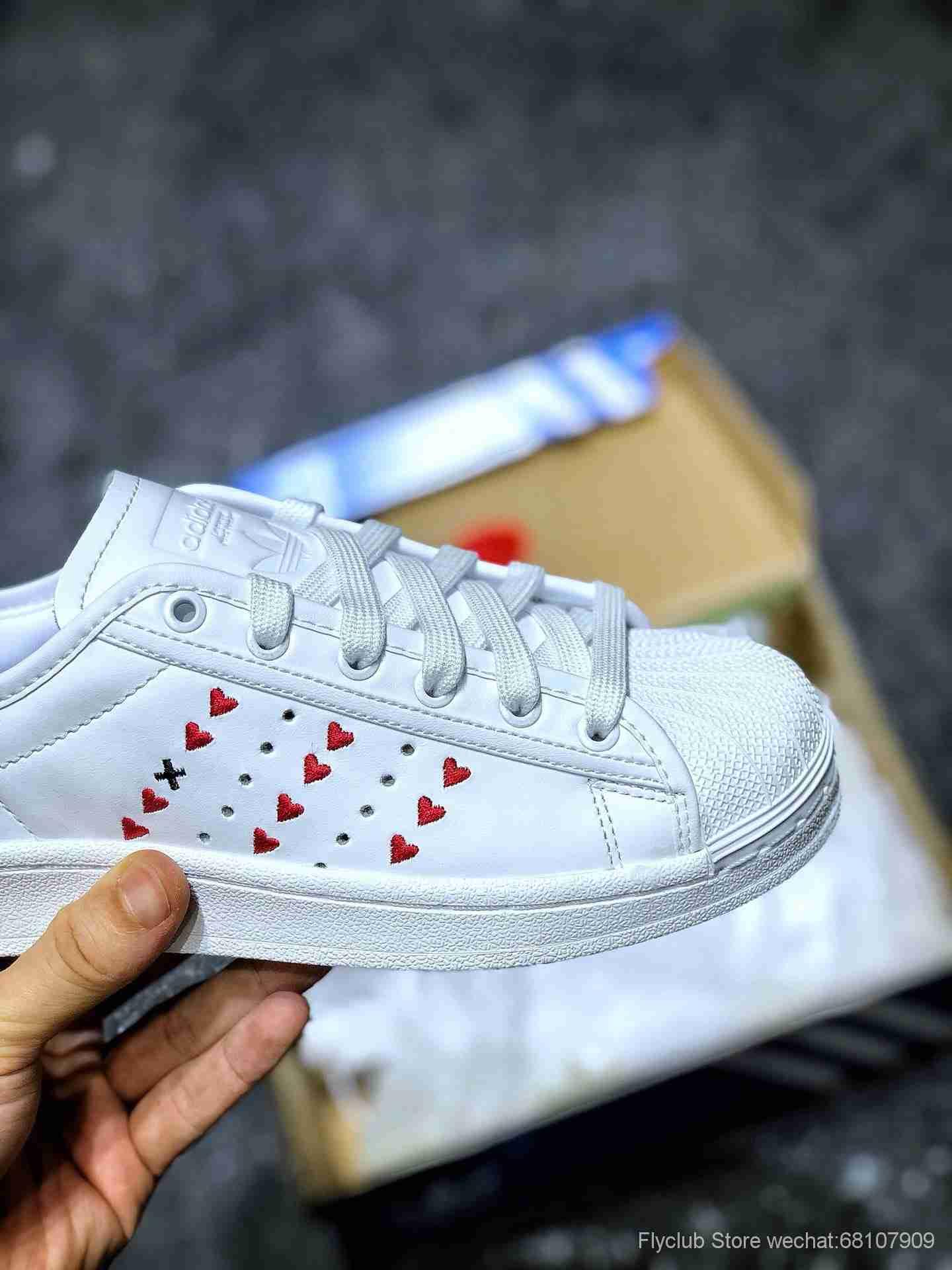 贝壳头七夕情人节限定配色,三叶草adidas Originals Superstars J贝壳头经典百搭休闲运动板鞋