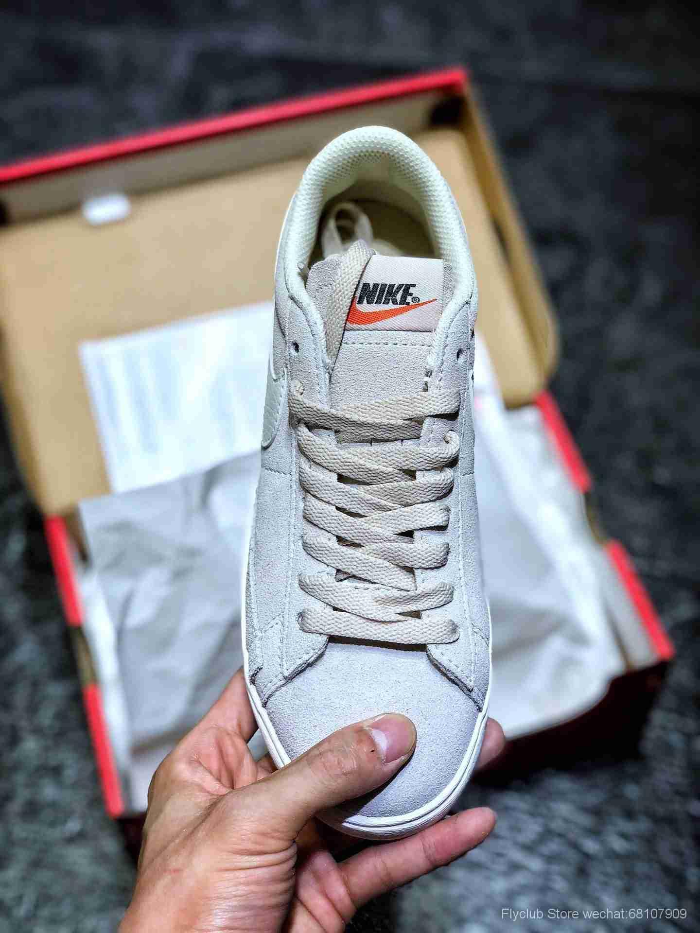 新一代开拓者板鞋 NIKE BLAZER SD 台湾进口反毛皮