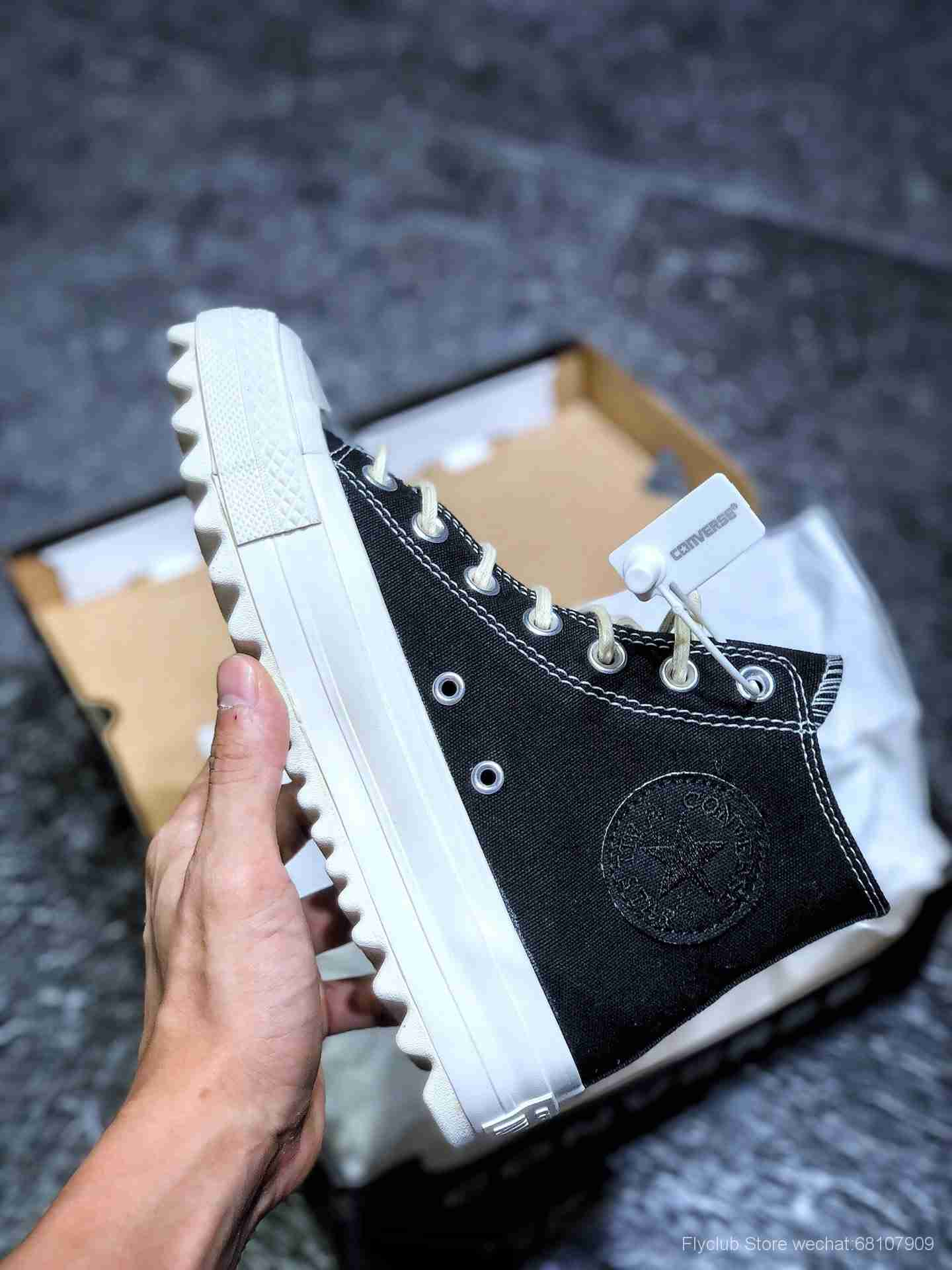 增高Converse Womens Chuck Taylor All Star Lift Ripple Ox 这