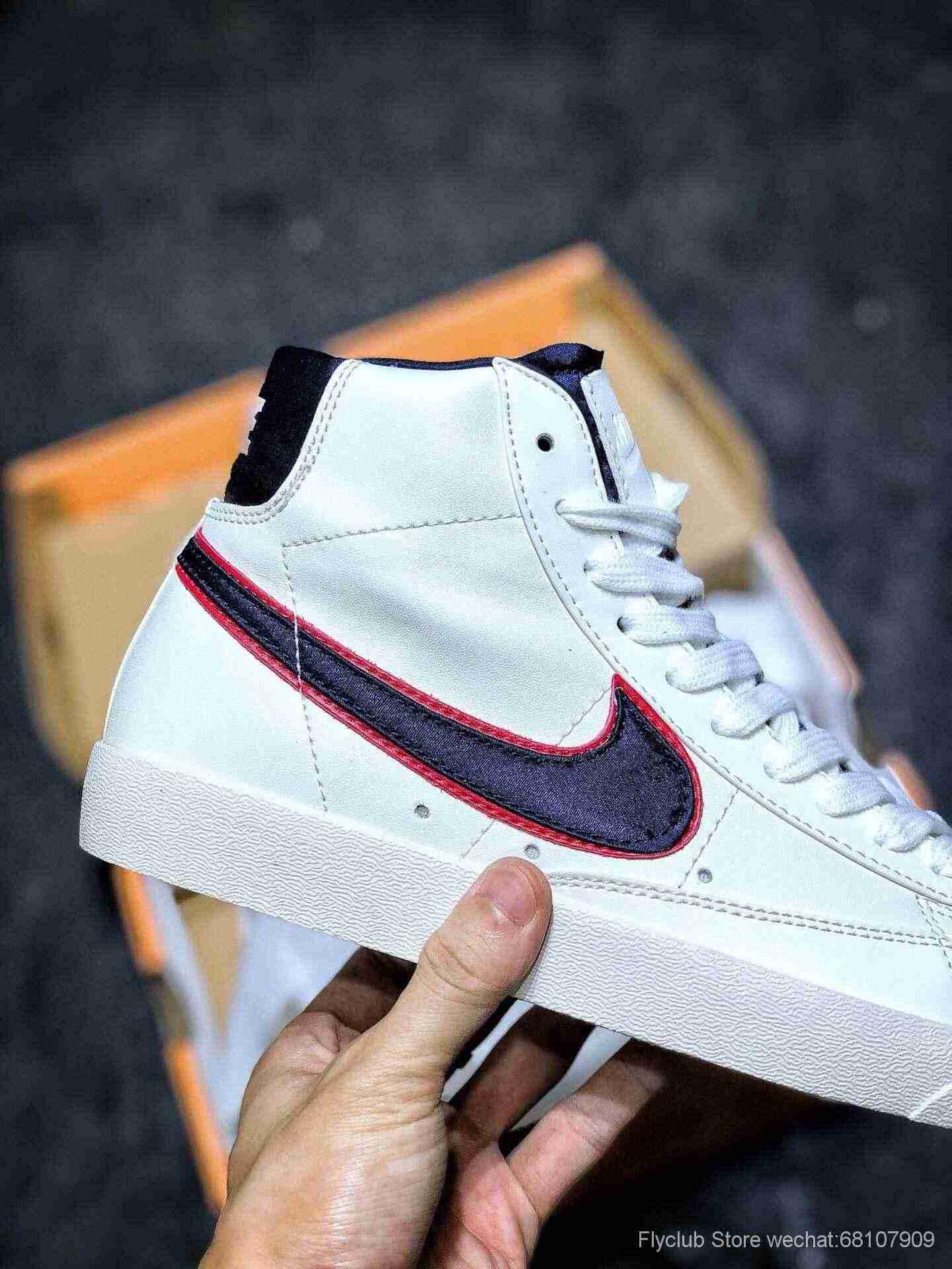 Nike Blazer Mid 77 VNTG QS 开拓者高帮奶油白大勾复古板鞋
