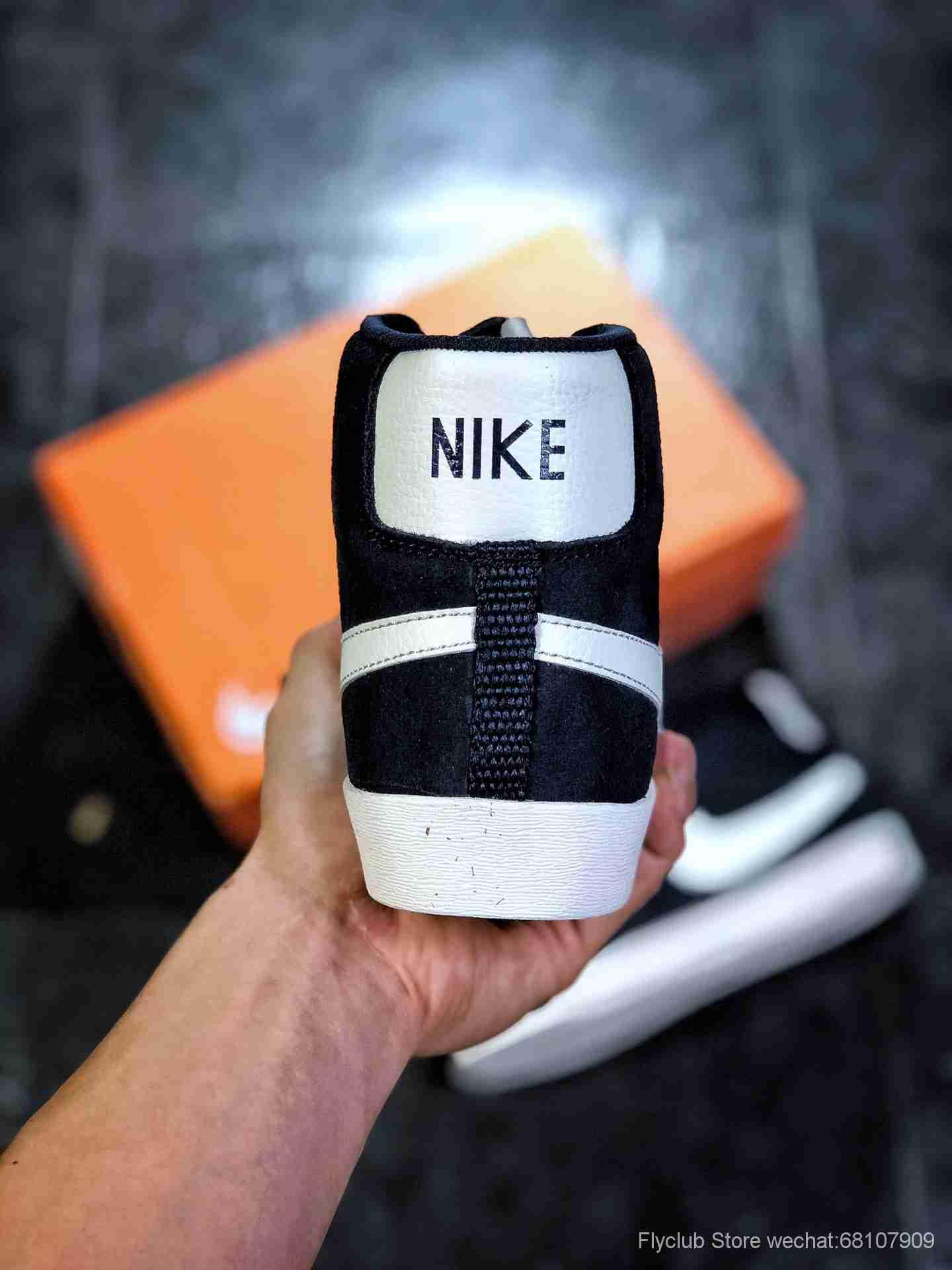 Nike Blazer Mid Retro OG复古经典中帮开拓者 海军蓝麂皮货号:845054-100
