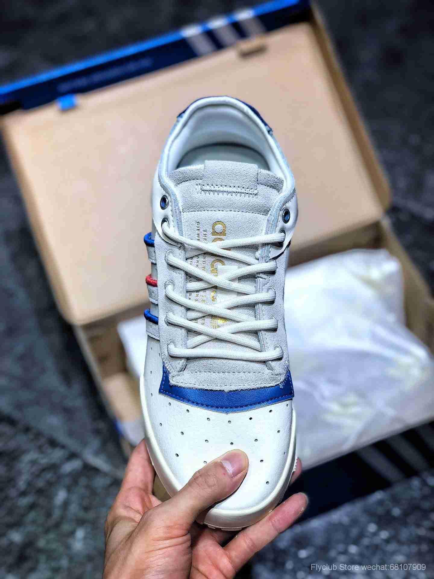"""adidas Originals Rivalry RM LOW""""Tricolor""""中底爆米花百搭低帮复古休闲运动休闲球鞋"""