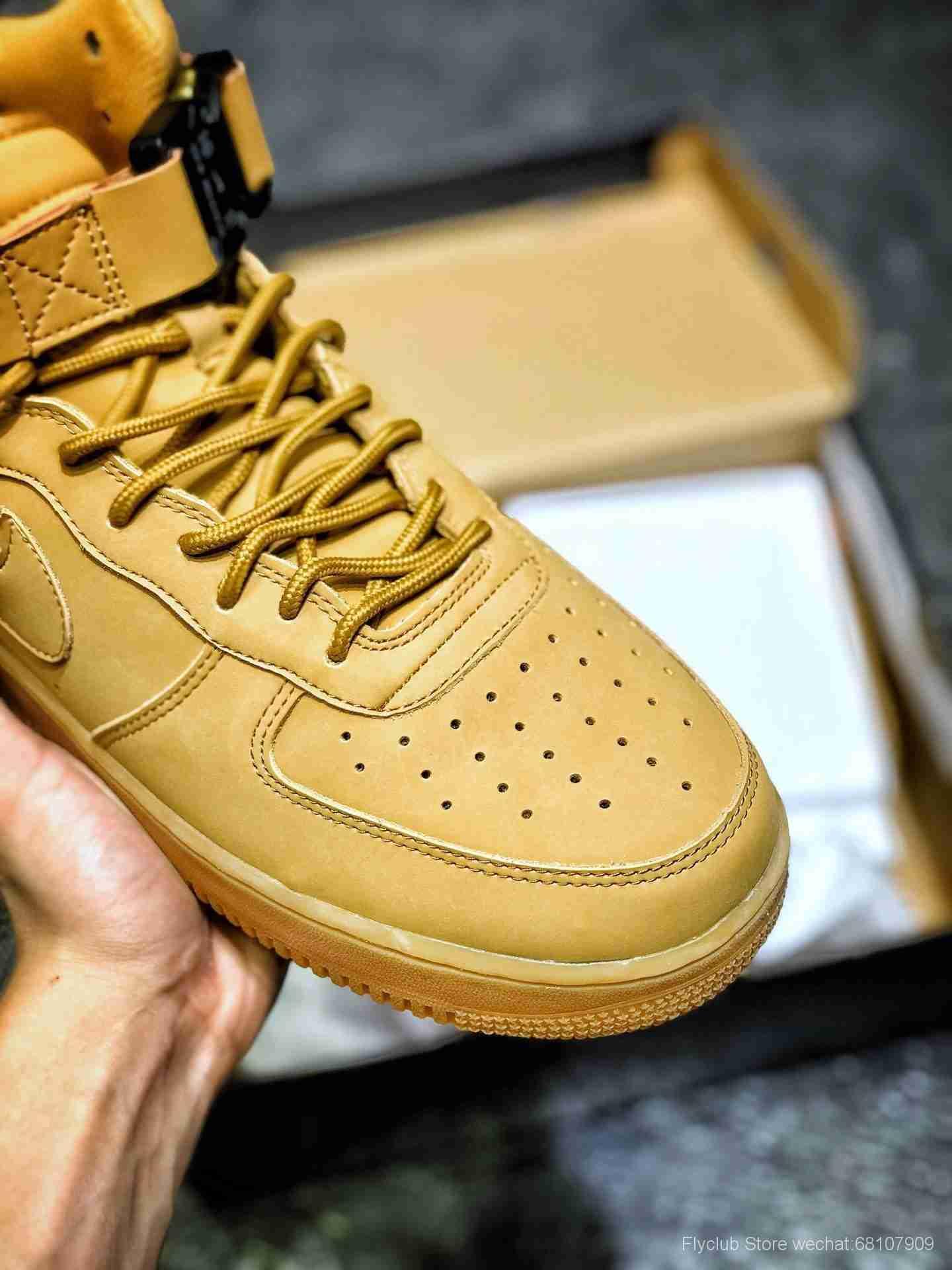 """年度最强企划 ALYX x Nike Air Force 1 High  联名机能高帮空军一号板鞋 315123-1111 鞋帮处的 """"1017 ALYX 9SM"""""""
