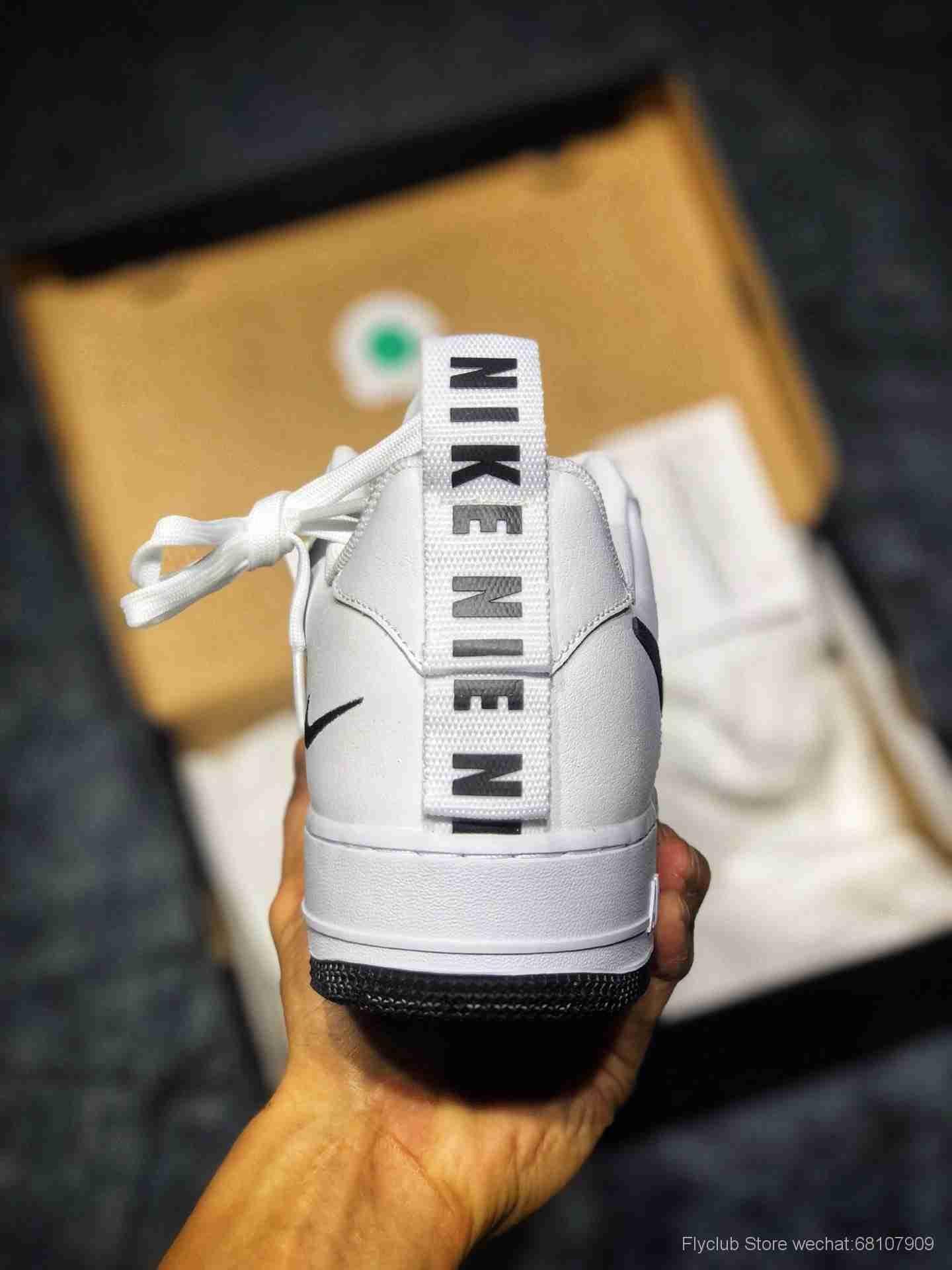 最高品质Nike Air Force 1 Utility White 19年新版 解构空军一号低帮运动休闲板鞋 CQ4611-100