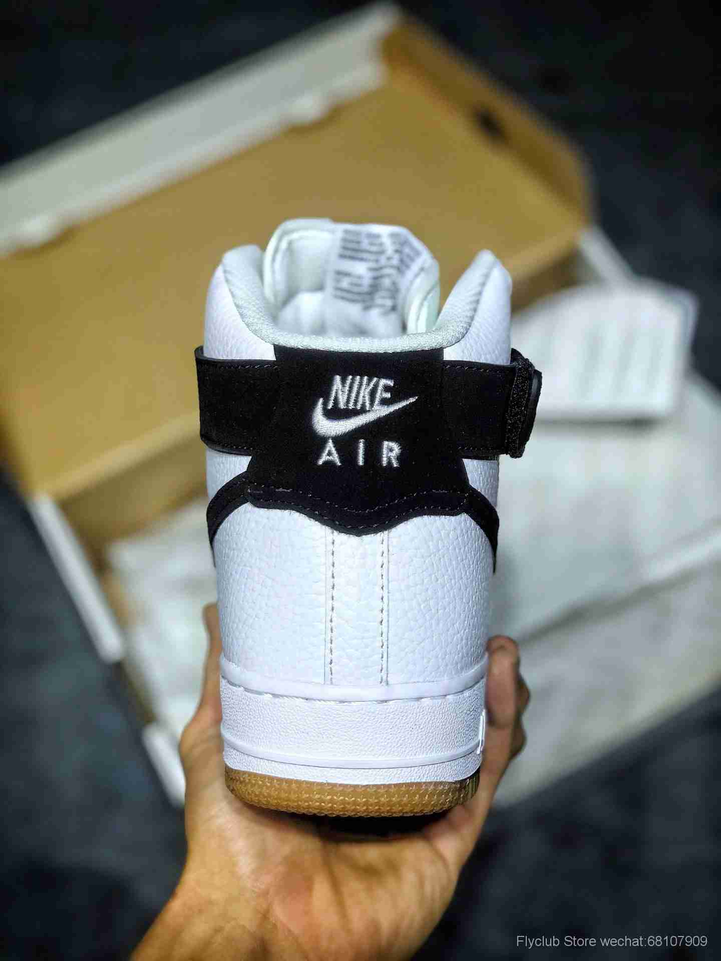 Nike Air Force 1 '07 全新配色硬质头层牛皮革#空军一号高帮AT7653-100