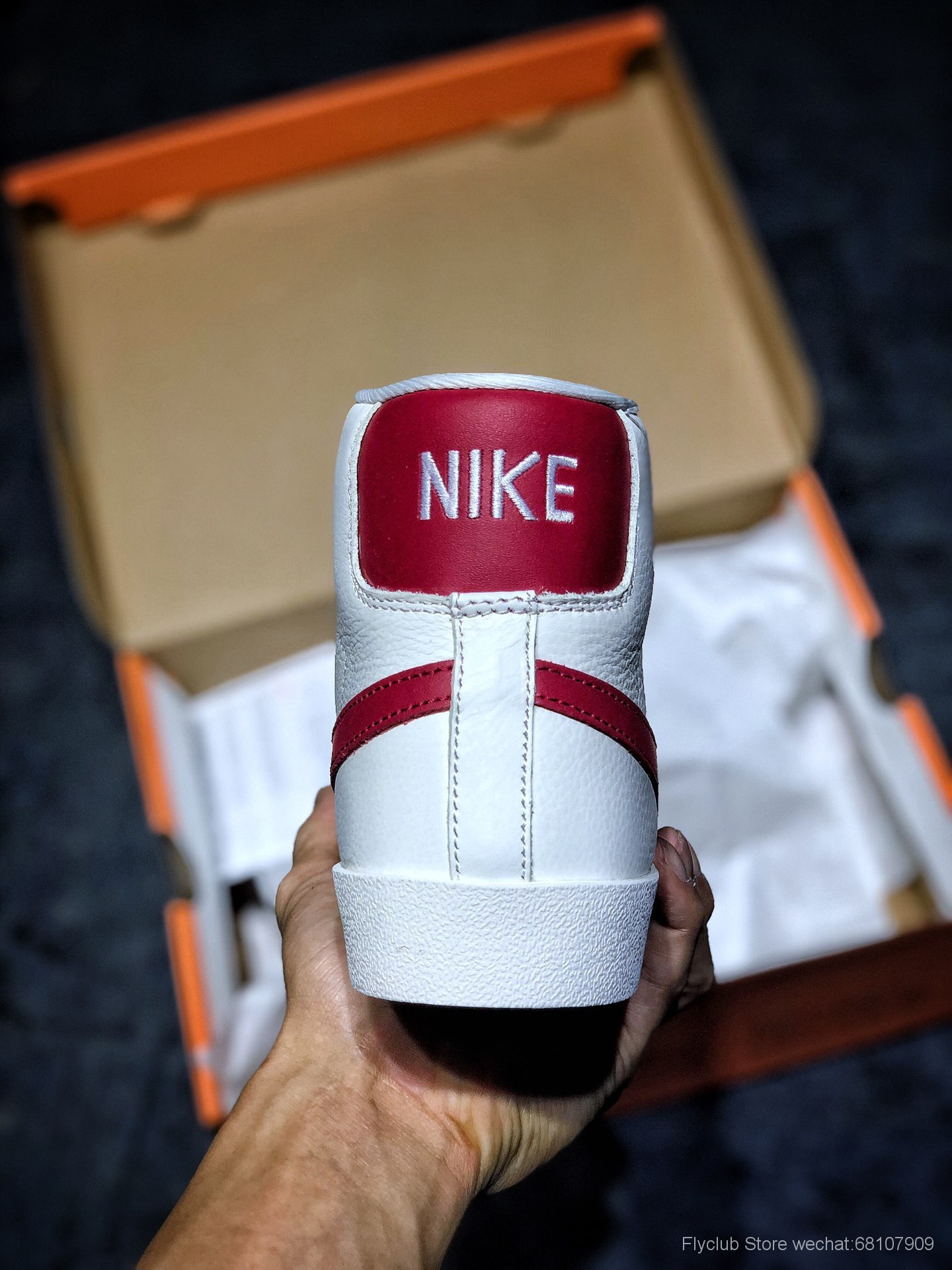 Nike Blazer Mid Retro OG 复古经典中帮开拓者  米黄红勾 奶白红 货号:BQ6894-502