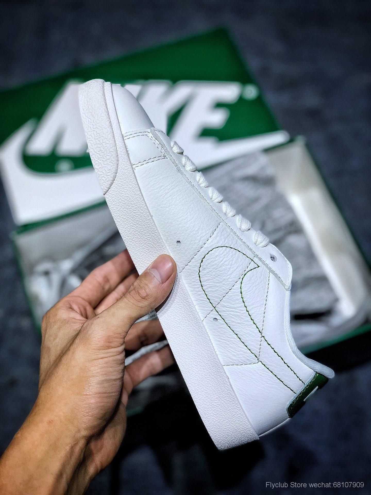"""耐克开拓者低帮 绿Stranger Things x Nike Blazer Mid """"Hawkins High"""" 怪奇物语联名复古低帮休闲板鞋"""
