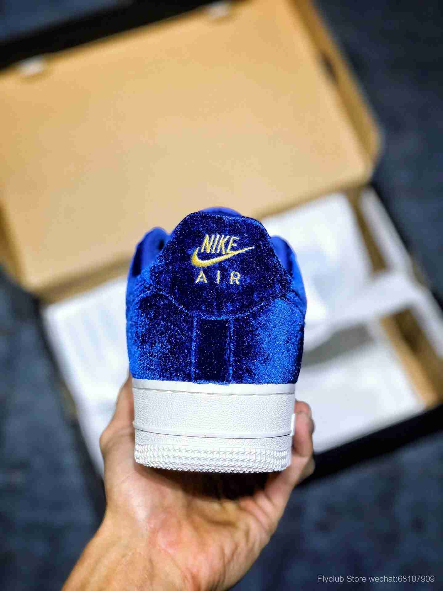 """Nk Air Force 1 AF1 07 Premium 3 Taille """"Bleu Vide 天鵝絨""""空军一号 蓝调 货号:AT4144-400"""