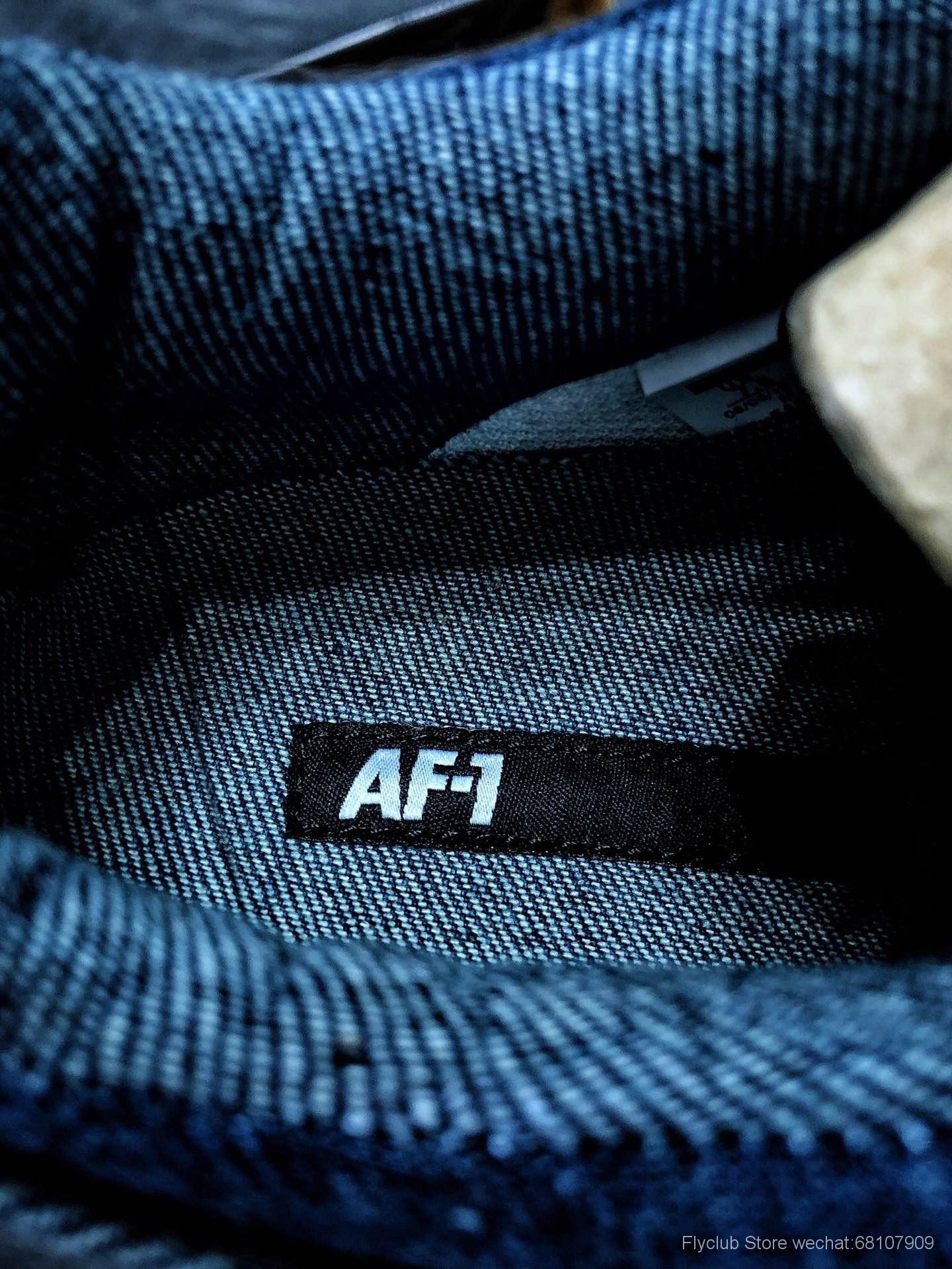 丹宁 Air Force 1 Low 联名新品!空军一号牛仔布板鞋 货号:905345 402