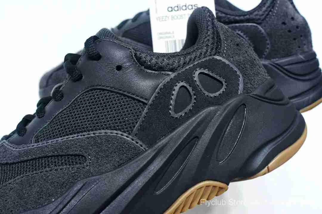 "f404纯原特供 Adidas Yeezy 700 Boost Runner ""Utility Black""黑生胶"